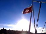 Merchant Flag of Malta (white Maltese Cross)